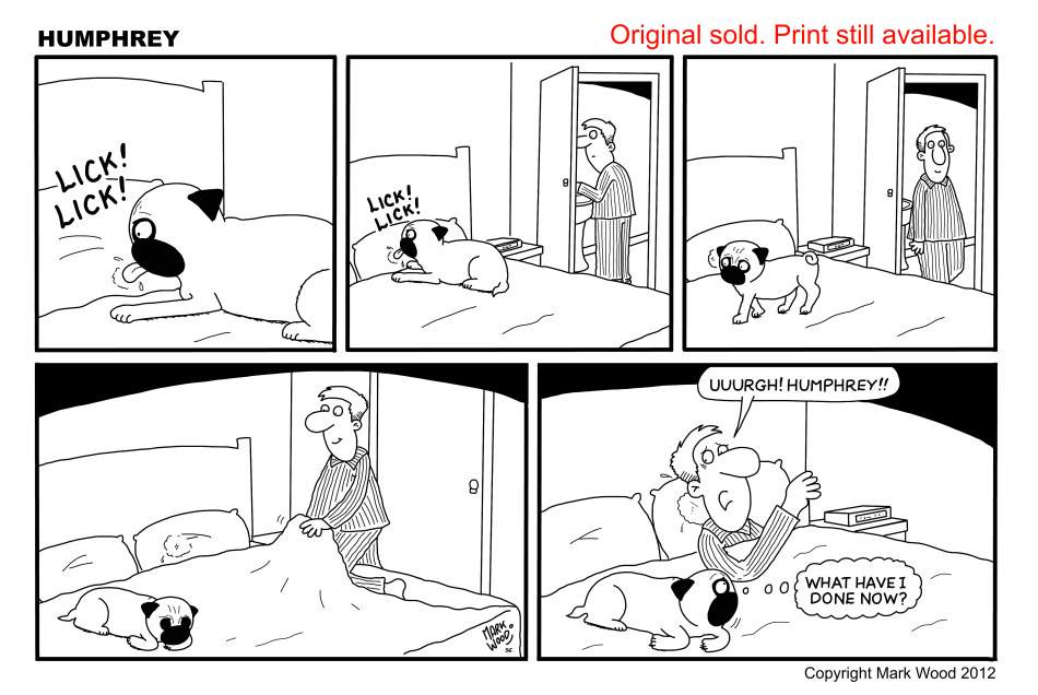 Humphrey the pug comic strip
