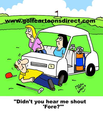 Golf Cart Cartoons